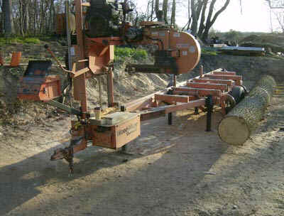 The mill we use is a Woodmizer LT-40-HD band sawmill